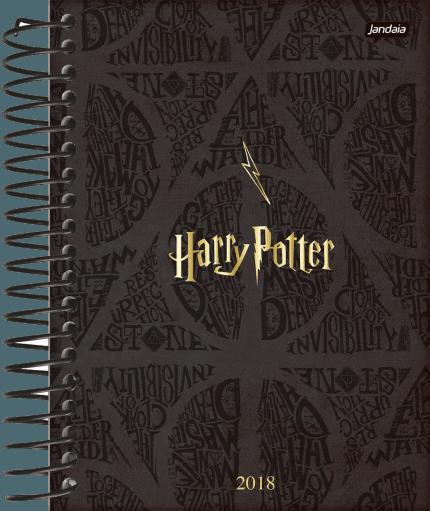 Agenda Diária Espiral Jandaia - Harry Potter Gifts 6 2018