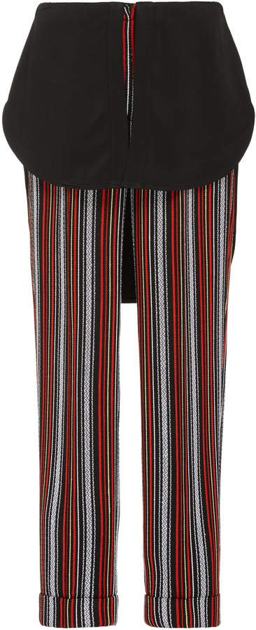 Kooning Striped Slim-Leg Pants