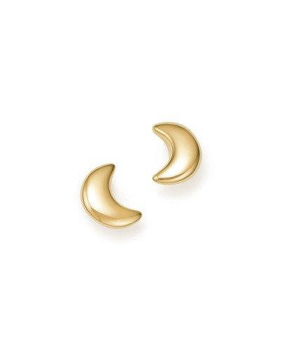 Bloomingdale's 14K Yellow Gold Crescent Moon Stud Earrings