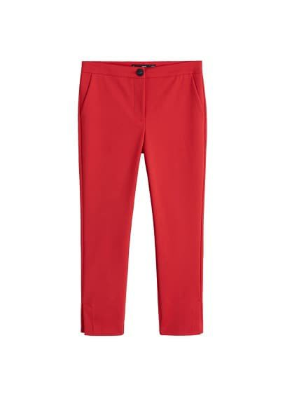 MANGO Straight cotton trousers