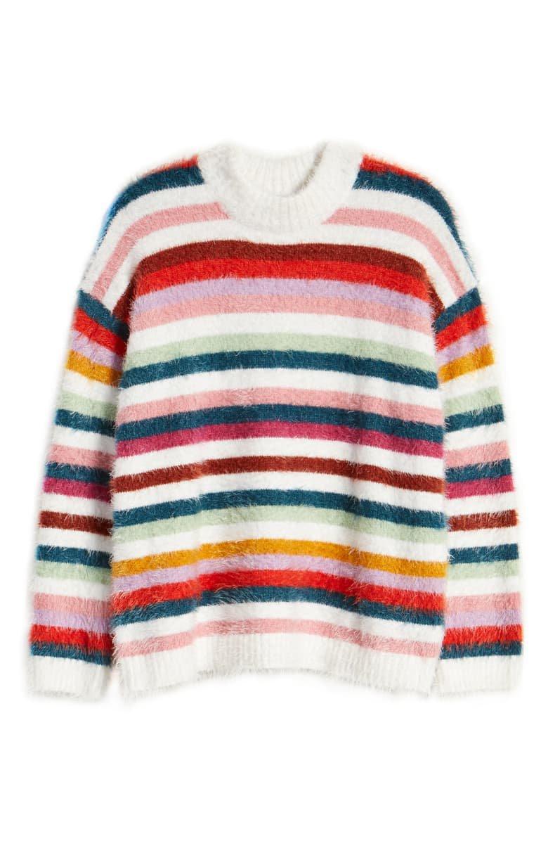 MINKPINK Debby Eyelash Stripe Sweater | Nordstrom