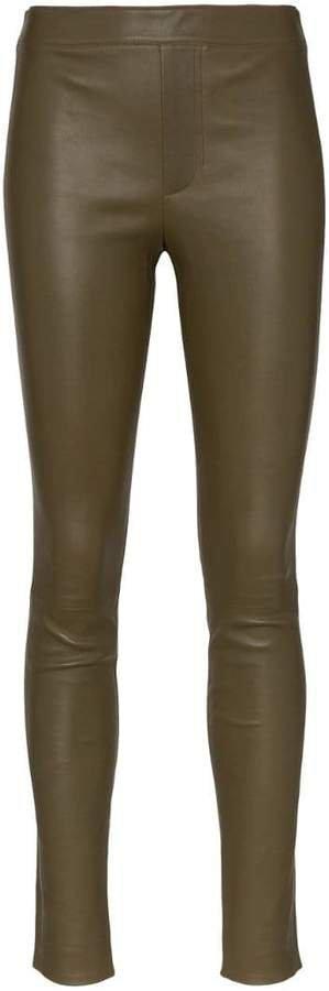 skinny leather leggings