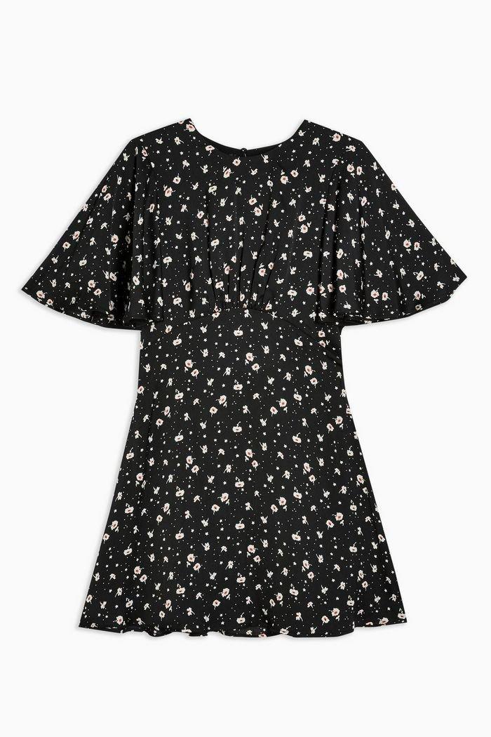 AUSTIN Floral Print Mini Dress | Topshop black