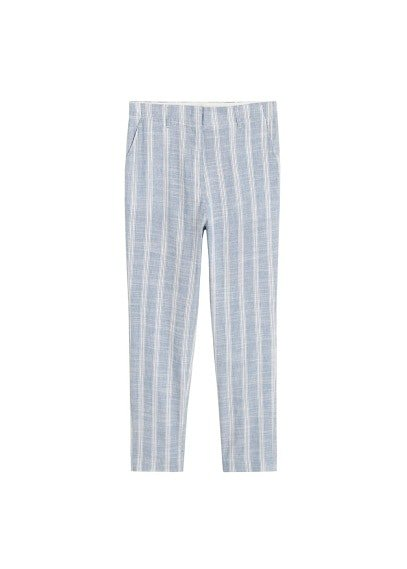 MANGO Straight striped trousers