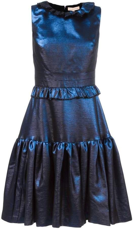 ruffled flare dress