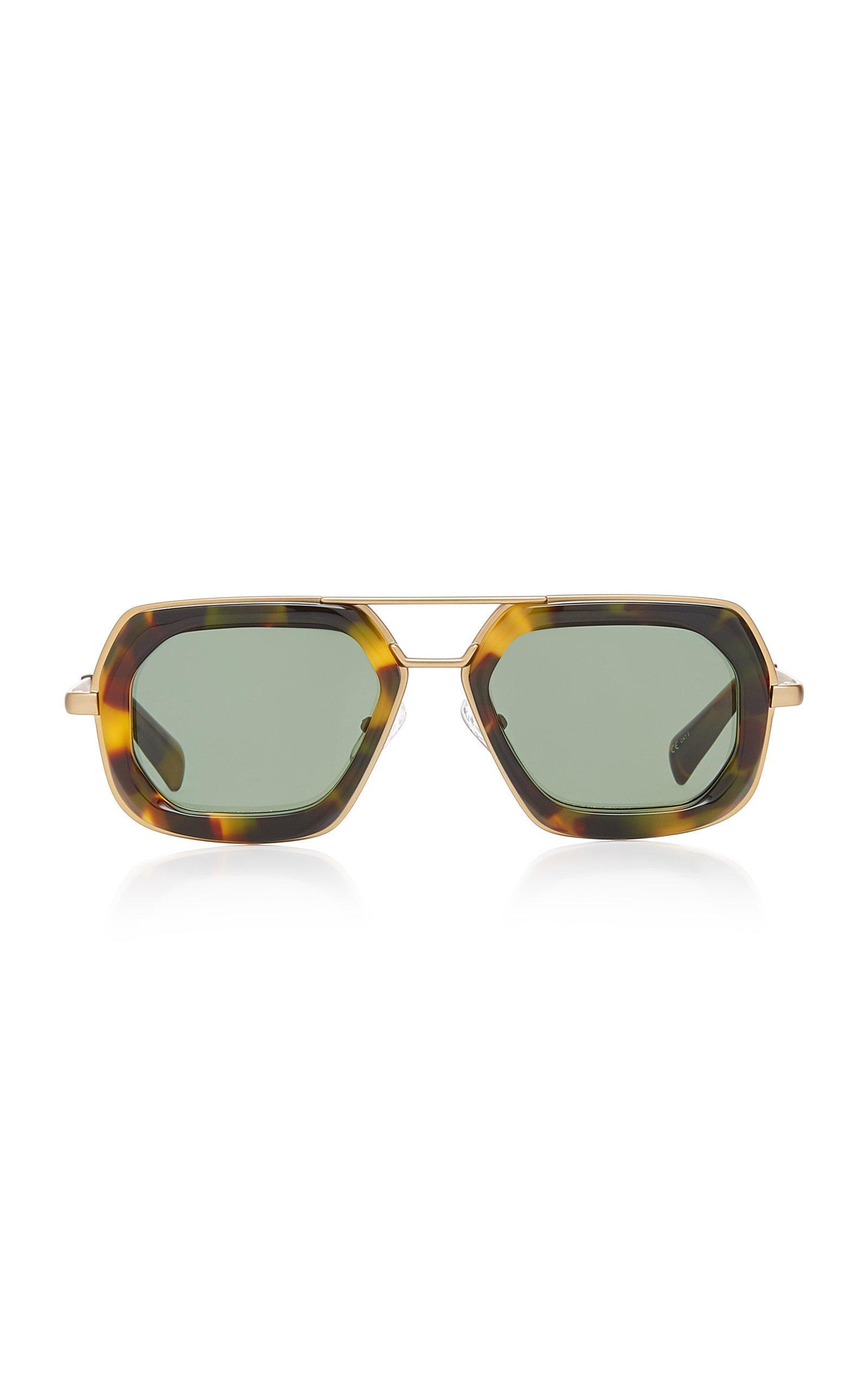 Dries Van Noten Oversized Acetate Aviator-Style Sunglasses