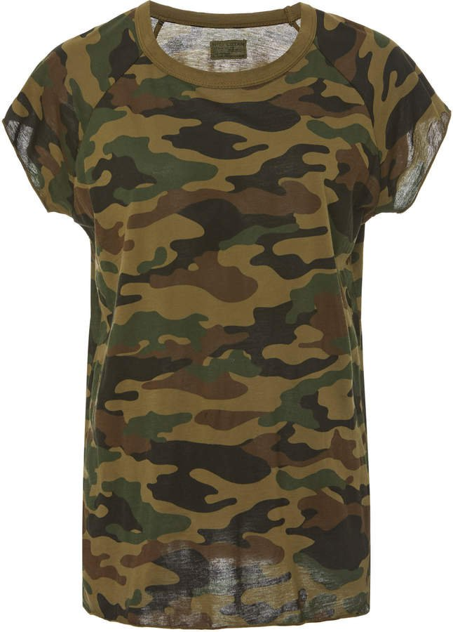 Camouflage Cotton-Jersey T-Shirt