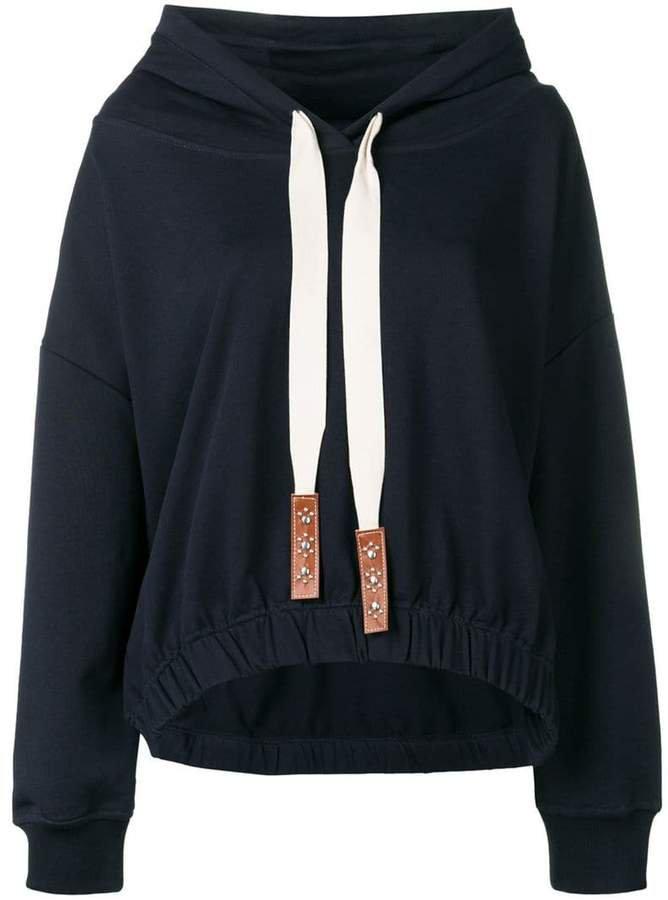 Dorothee long-sleeve drawstring hoodie