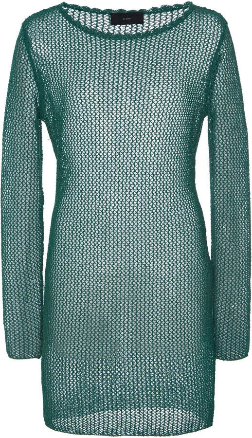 Alanui Open-Knit Shift Mini Dress Size: S