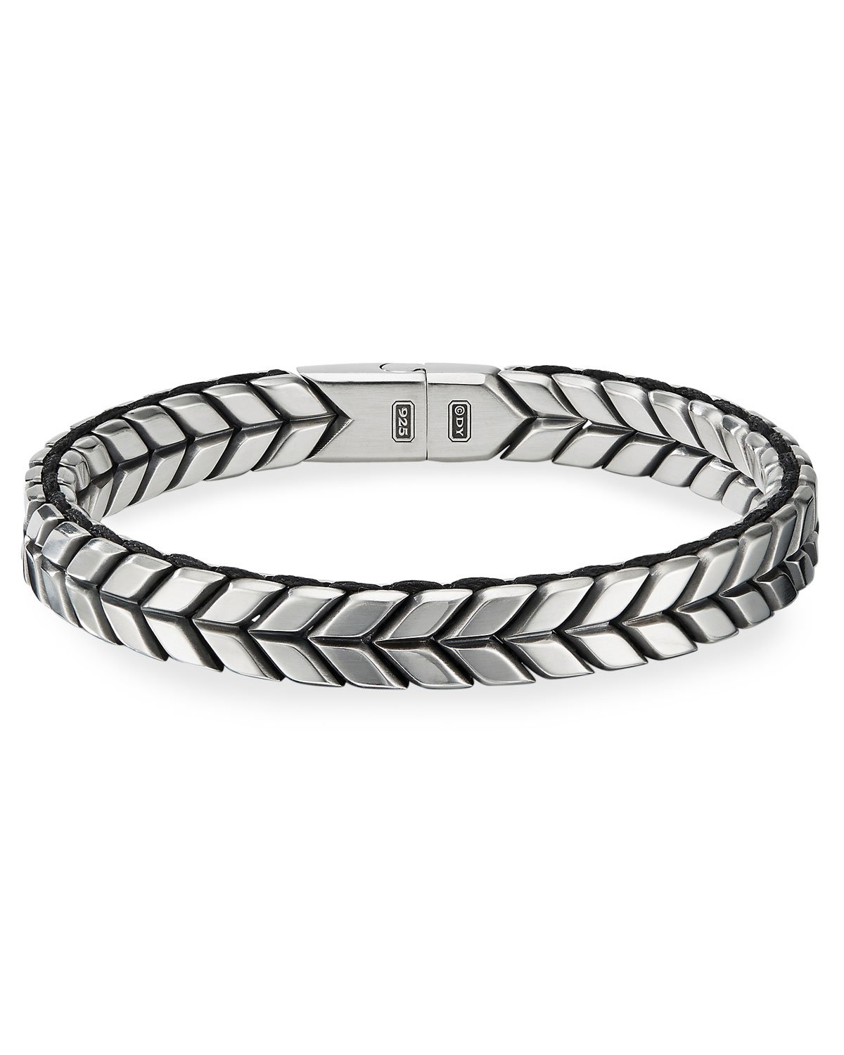 David Yurman Chevron Woven Silver Bracelet