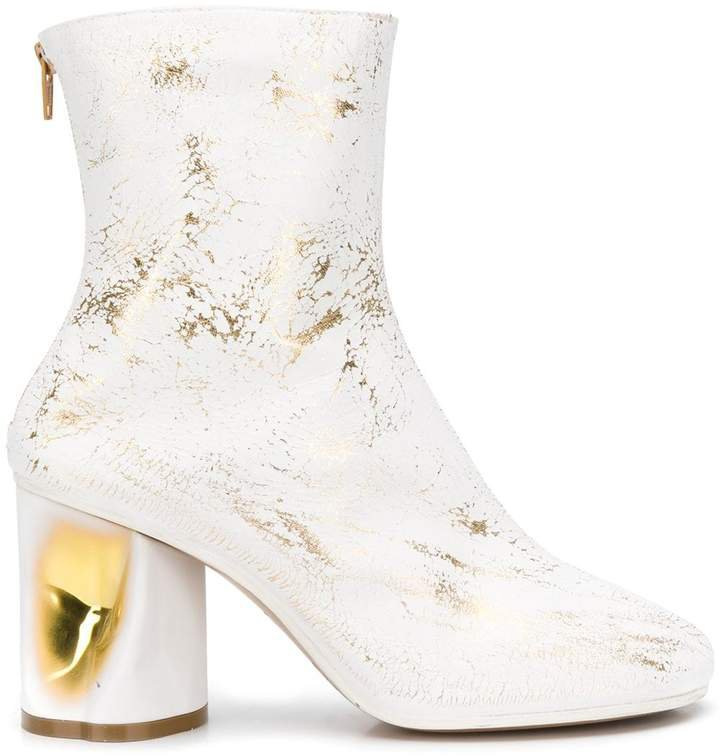 crushed heel ankle boots
