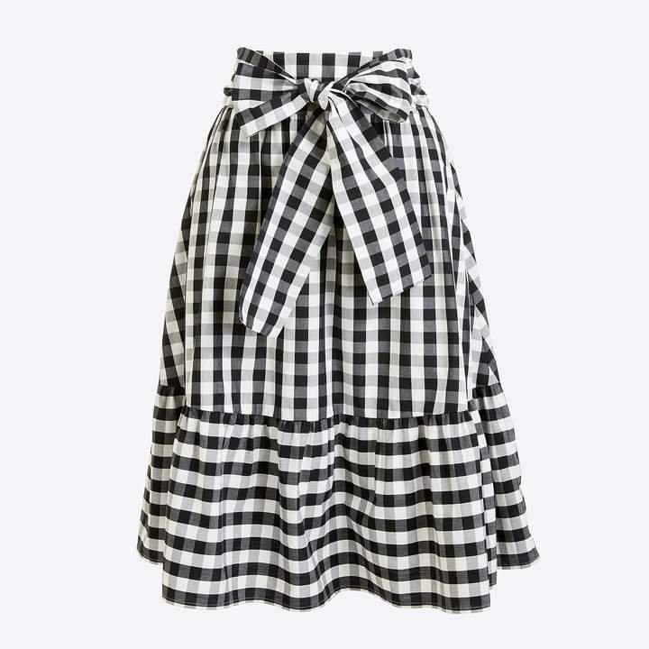 Tie-waist midi skirt