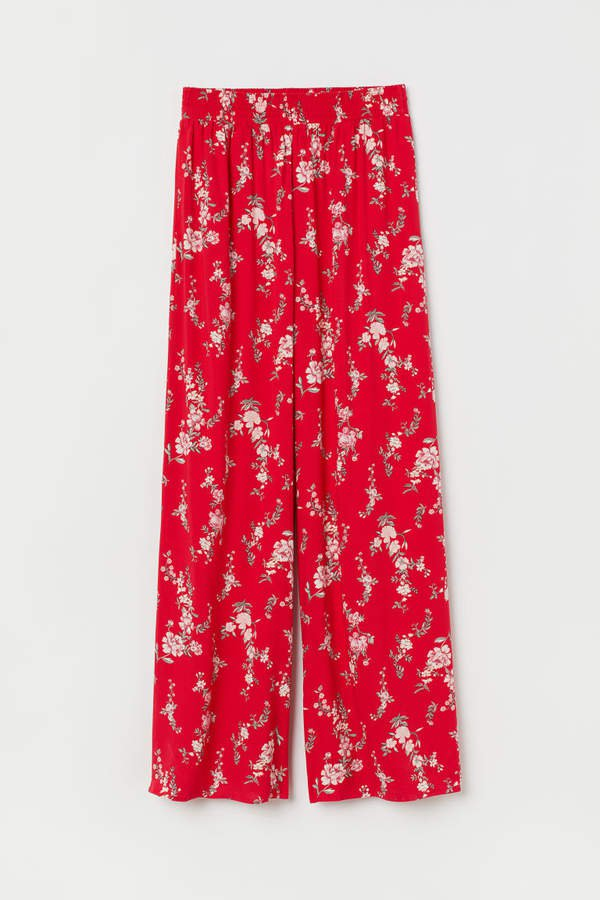 Wide-leg Pants - Red