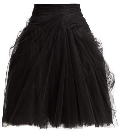 Tulle Layered Mini Skirt - Womens - Black