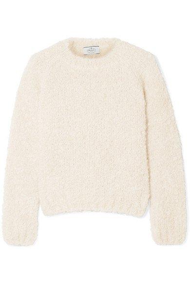 Prada | Mohair, cashmere and silk-blend bouclé sweater | NET-A-PORTER.COM