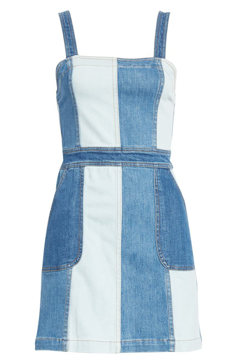 Alice + Olivia Jamiee Denim Minidress blue