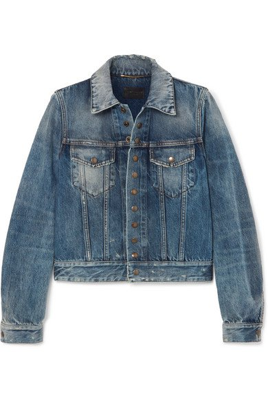 SAINT LAURENT | Distressed denim jacket | NET-A-PORTER.COM