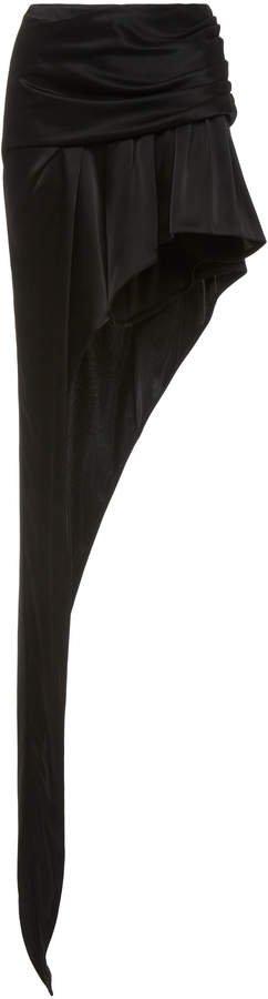 Exposed Leg Sateen Mini Skirt Size: 0