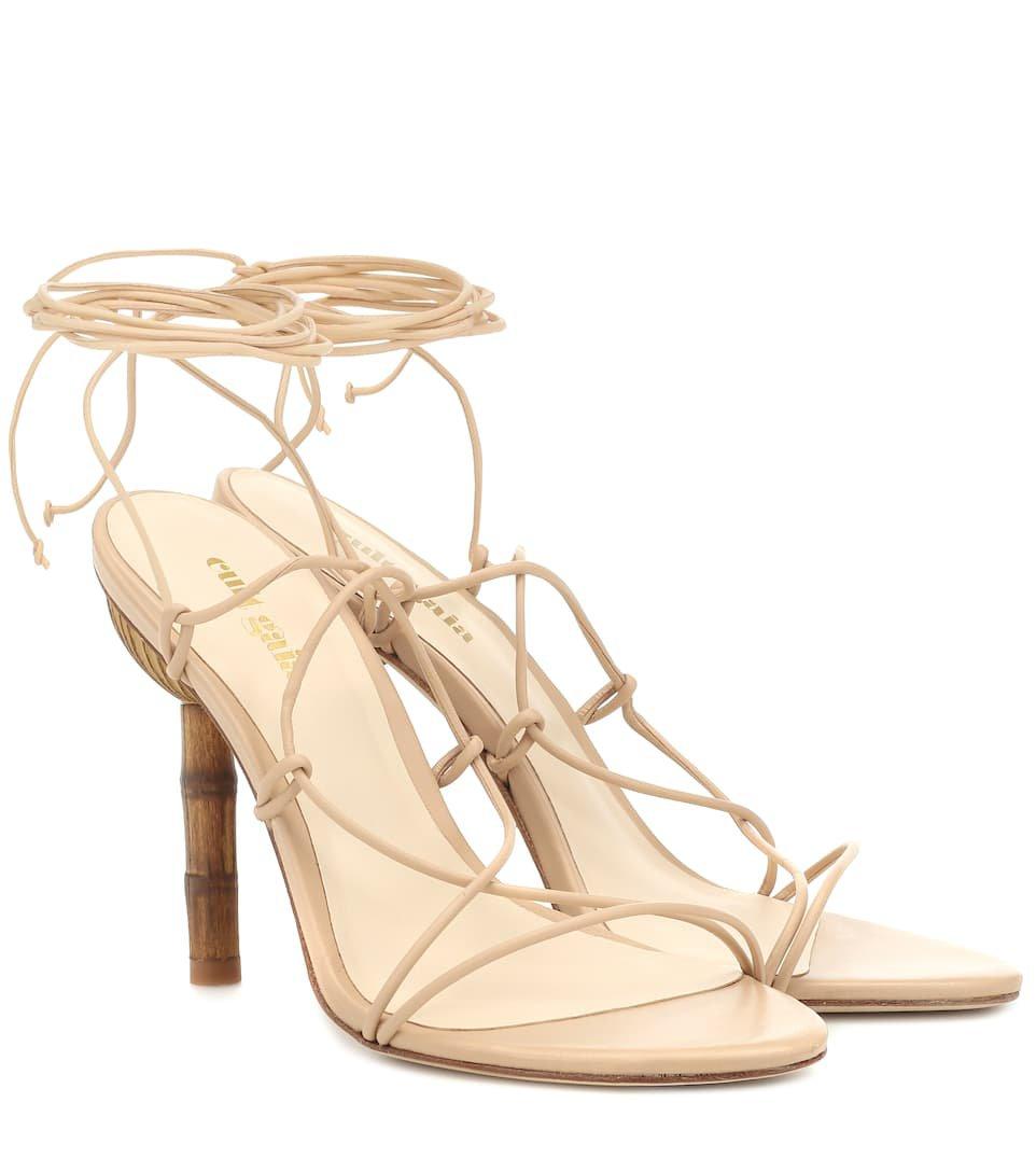 Soleil Leather Sandals - Cult Gaia | Mytheresa