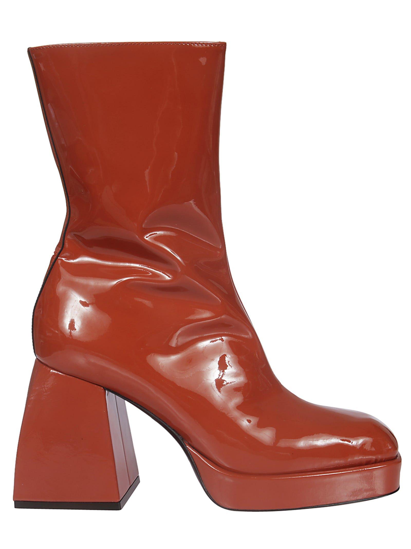 Nodaleto Corta Block Heel Zipped Boots