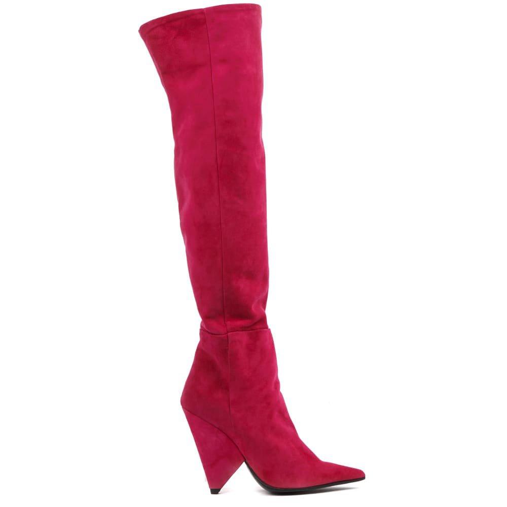 Aldo Castagna Strawberry Suede Boots