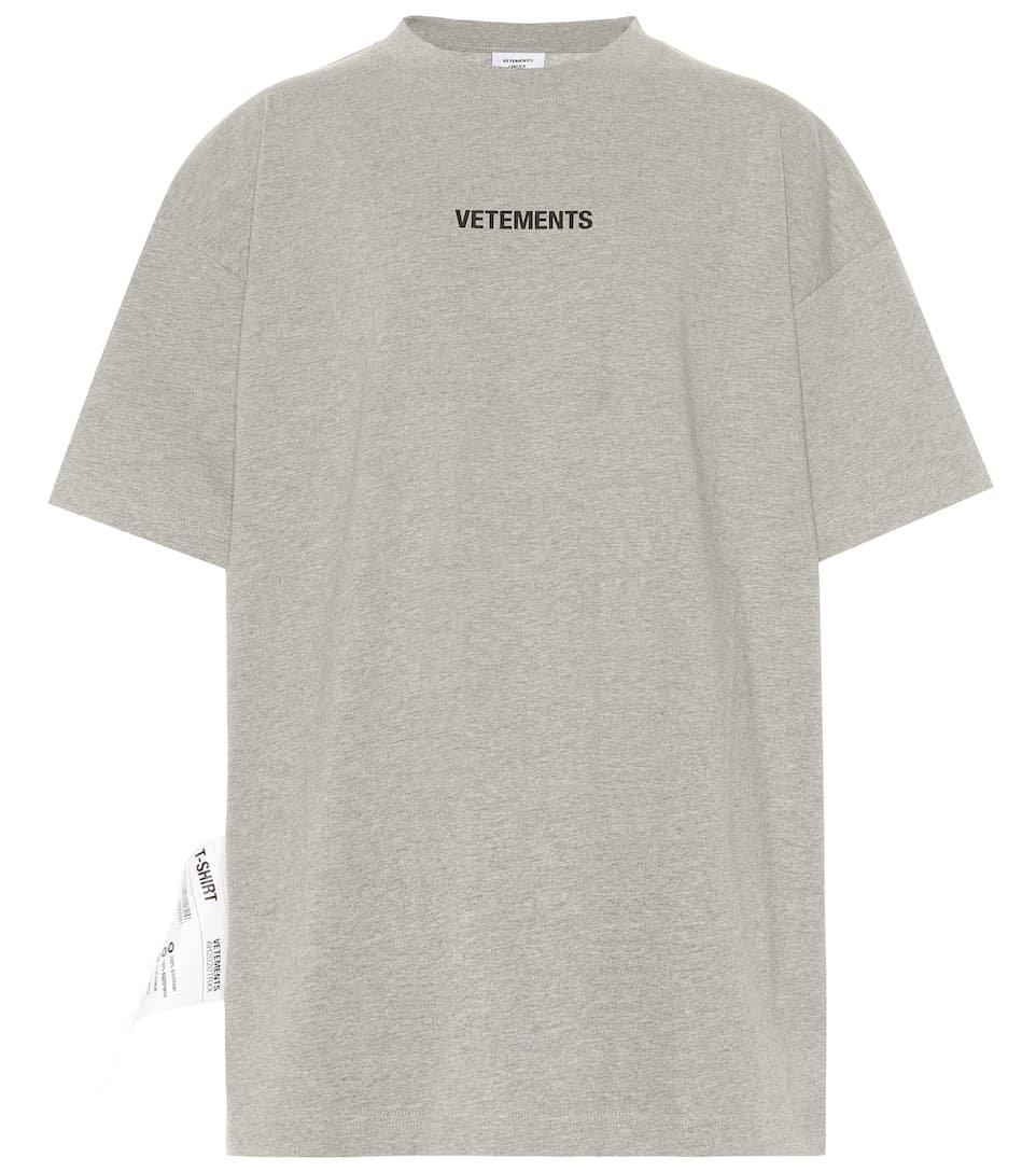 Vetements - Logo cotton T-shirt | Mytheresa