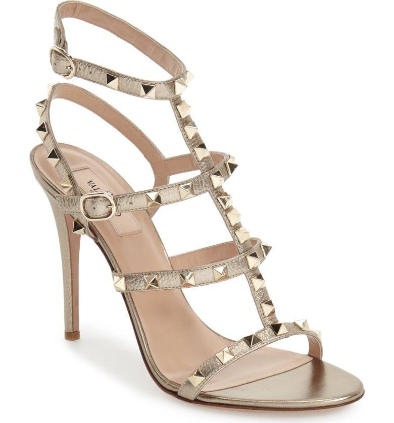 Valentino 'Rockstud' Ankle Strap Sandal (Women) | Nordstrom