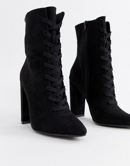 ASOS DESIGN Elicia lace up heeled boots | ASOS