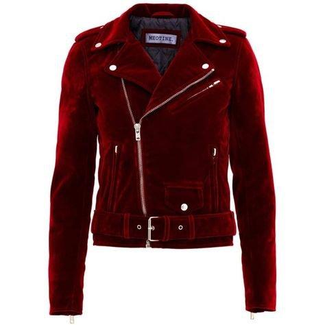 red velvet moto jacket