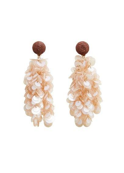 MANGO Sequin drop earrings