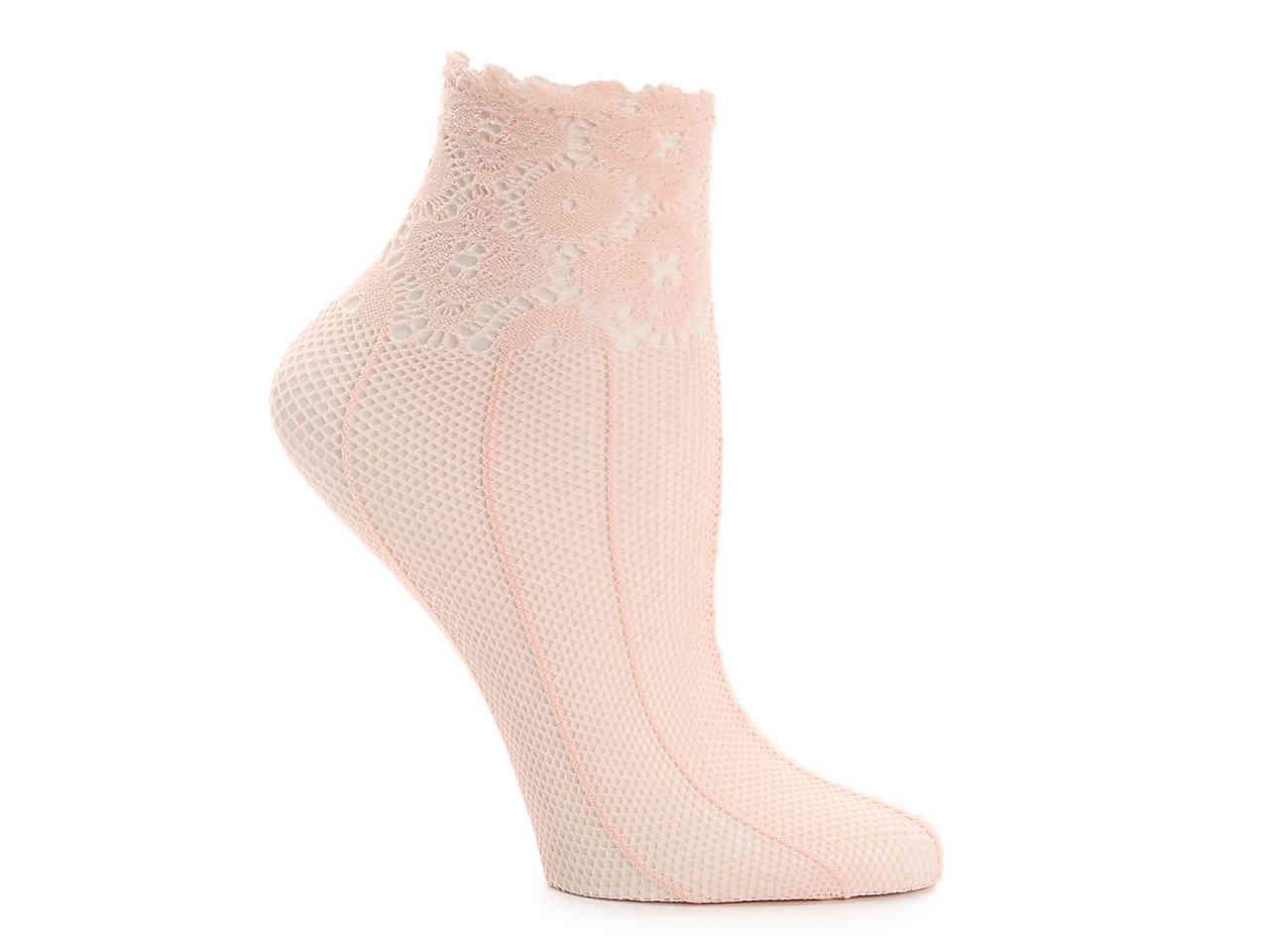 Lemon Lace Stripe Women's Ankle Socks Women's Handbags & Accessories | DSW