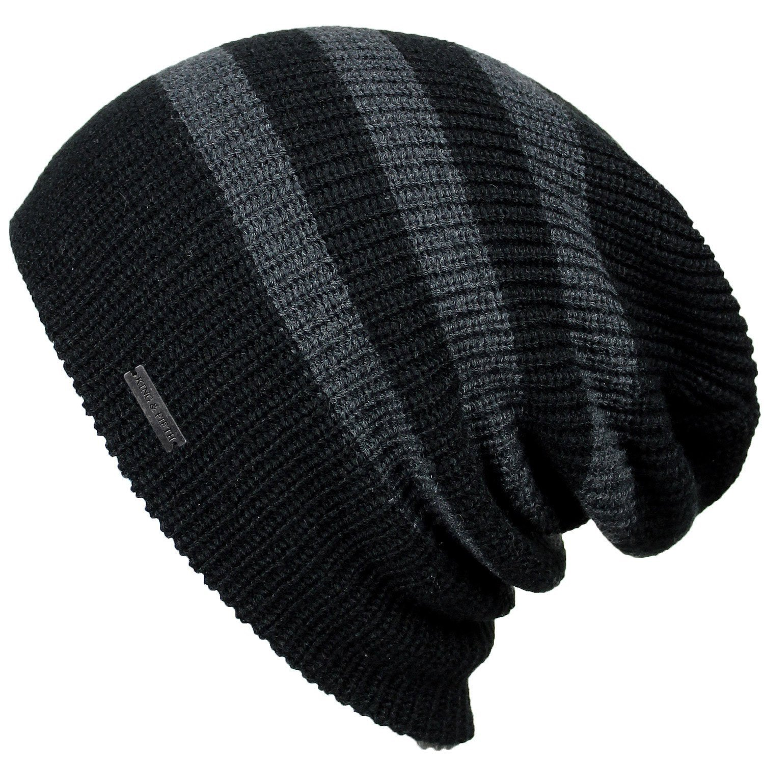 Mens Slouchy Beanie - The Forte - Black Beanie Hat - King and Fifth Supply Co.