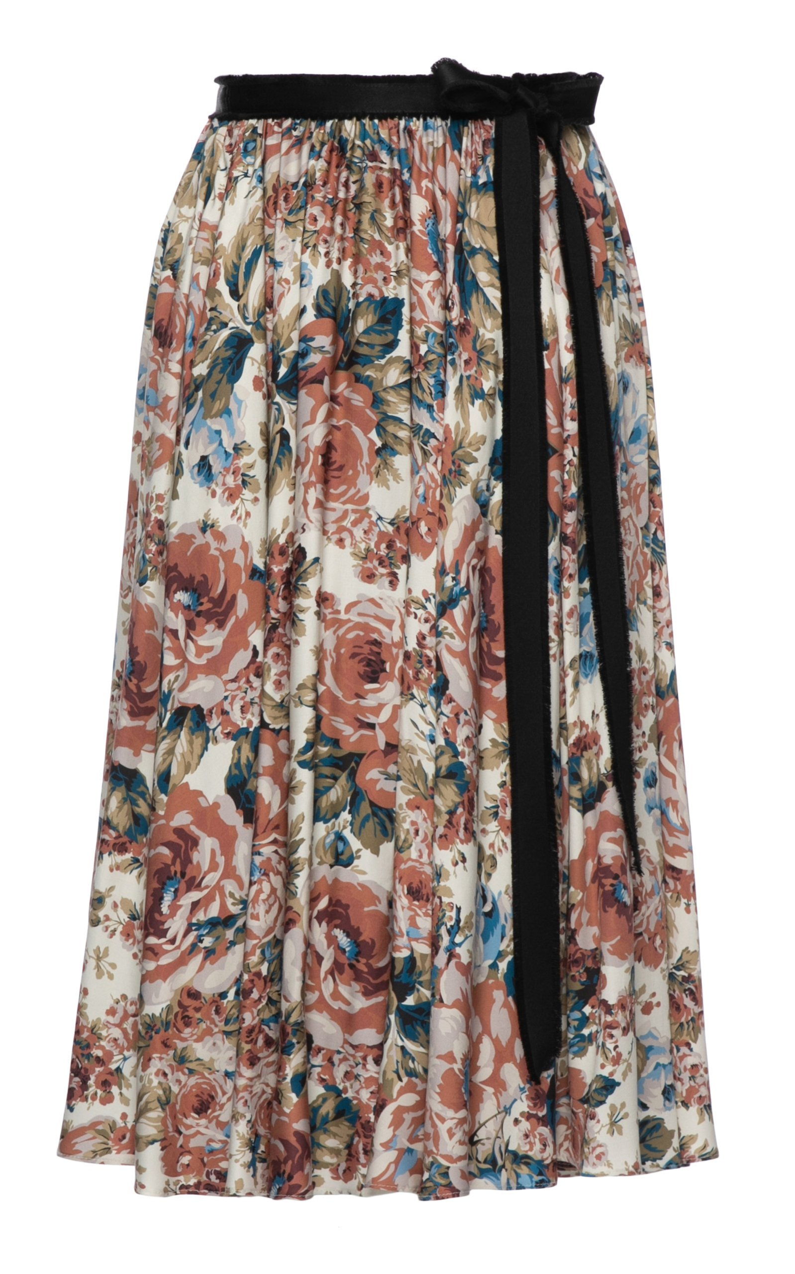 Lena Hoschek Addiction Floral Midi Skirt