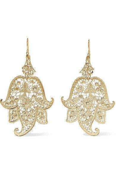Etro | Gold-tone earrings | NET-A-PORTER.COM