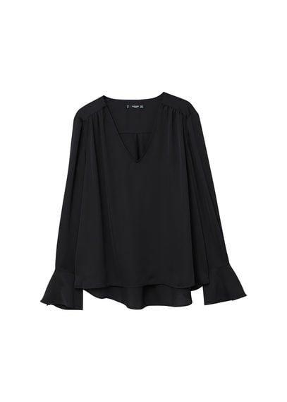 MANGO Flared sleeve blouse