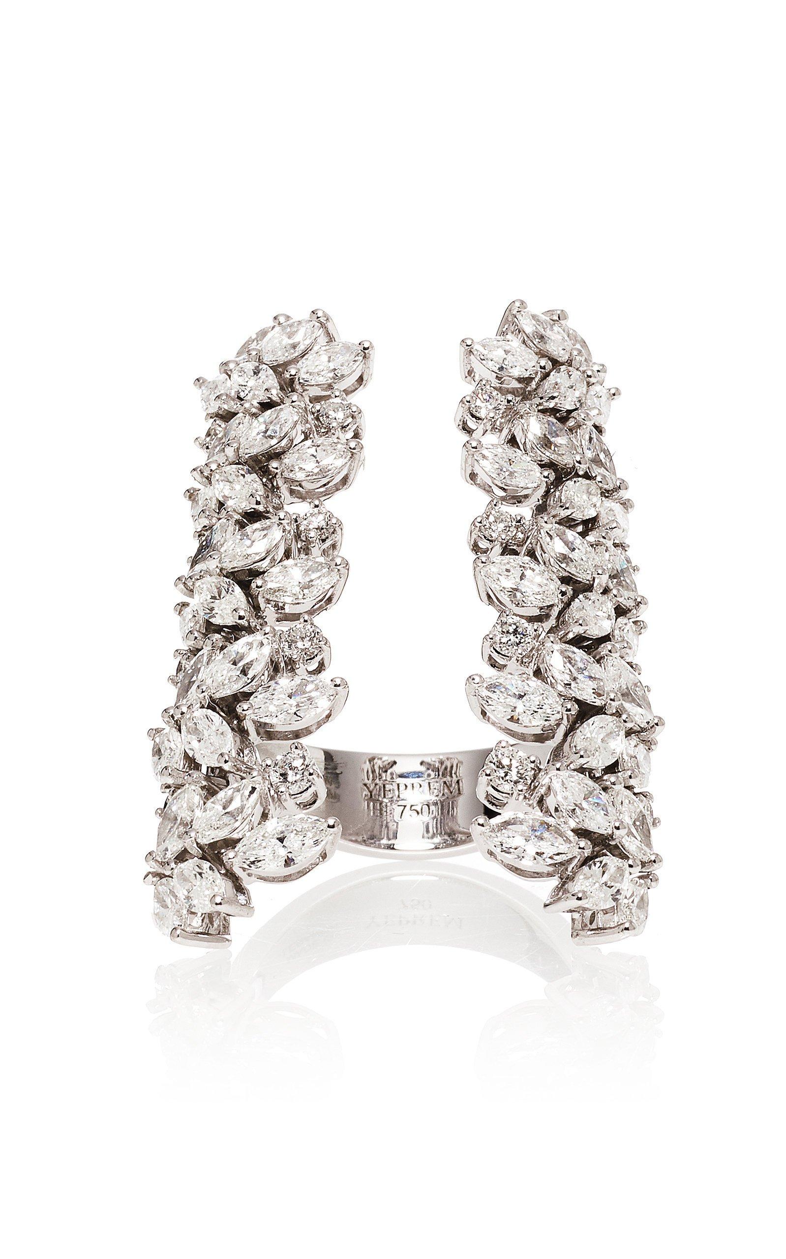 Yeprem Wreath Frame 18K White And Diamond Ring
