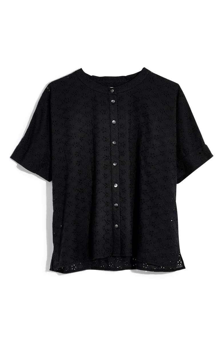 Madewell Eyelet Boxy Button-Down Shirt | Nordstrom