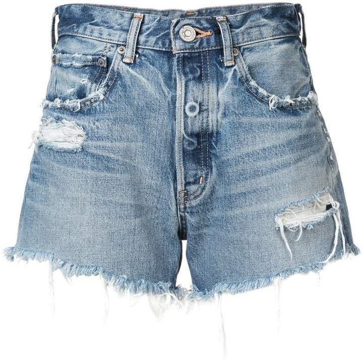 Vintage ripped denim shorts