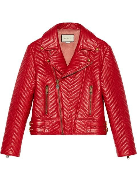 Gucci Quilted Leather Biker Jacket - Farfetch