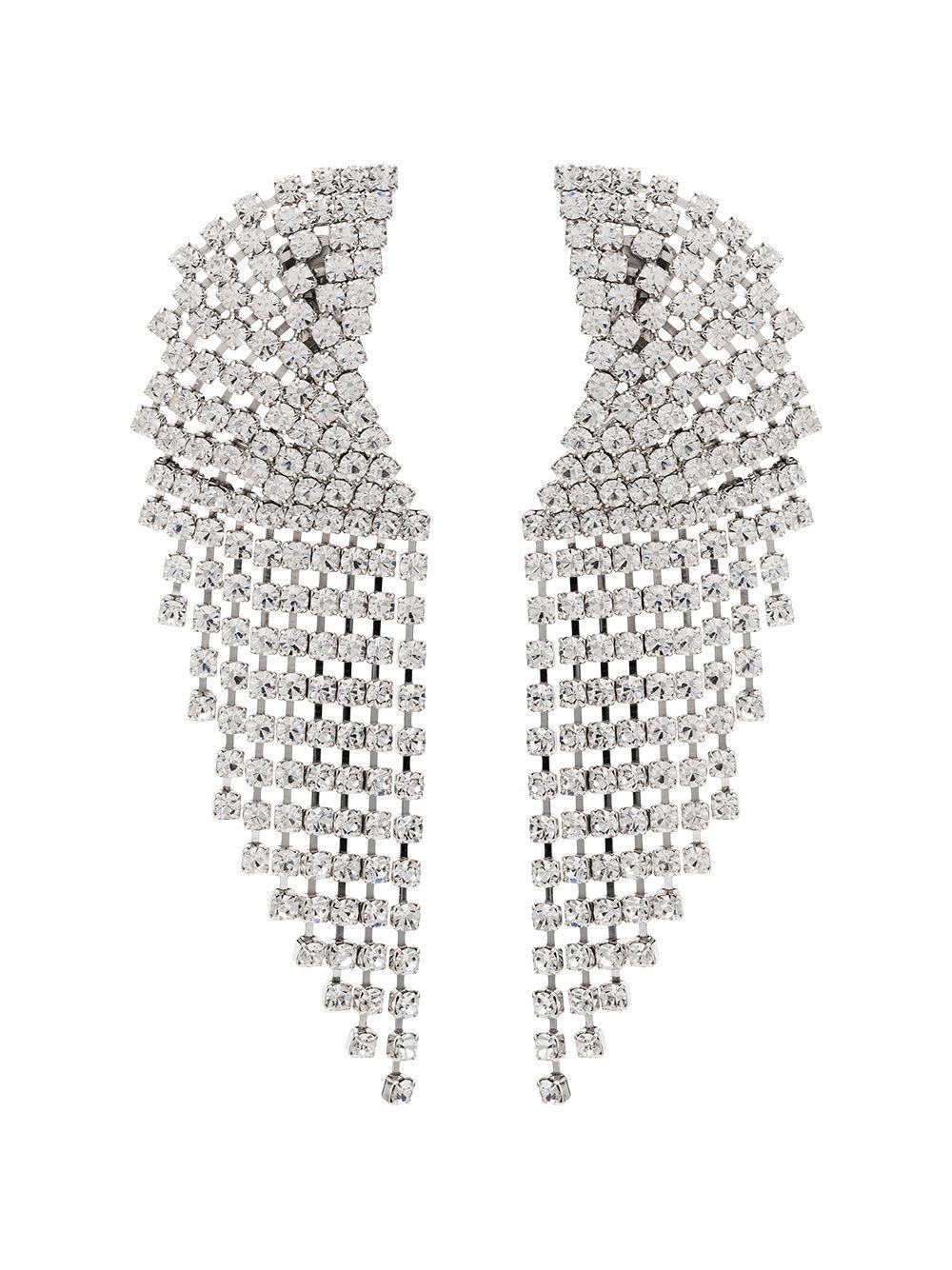 Alessandra Rich Cascade Crystal Clip Earrings | Farfetch.com