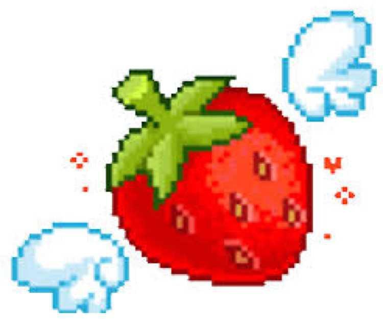 Pixel Flying Strawberry