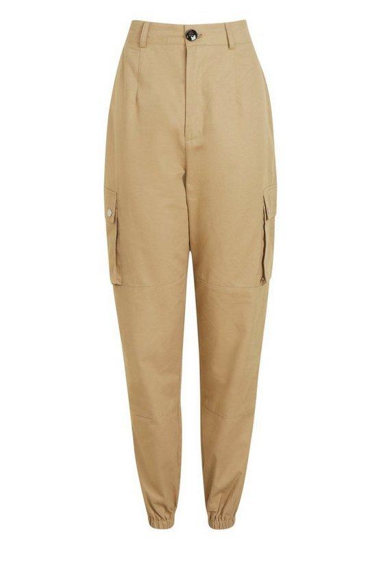 Woven Pocket Cargo Pants   Boohoo