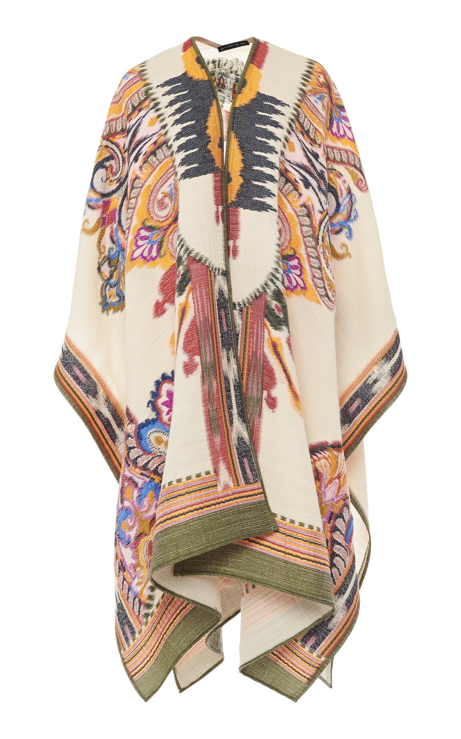 Etro Multicolored Woven Poncho