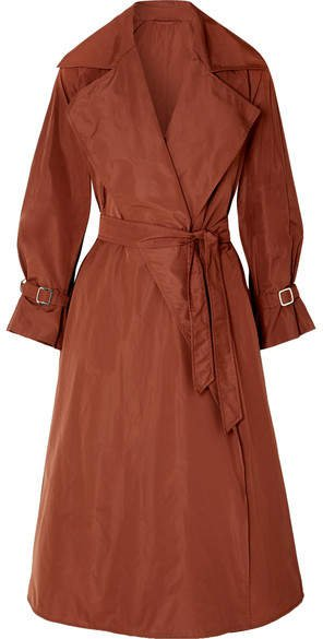 Shell Trench Coat - Brown
