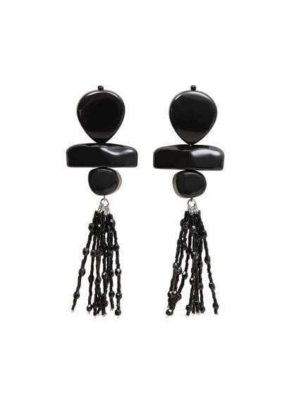 Violeta BY MANGO Resin pendant earrings