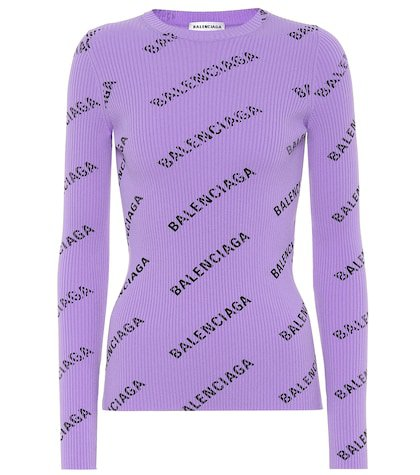 Logo ribbed sweater