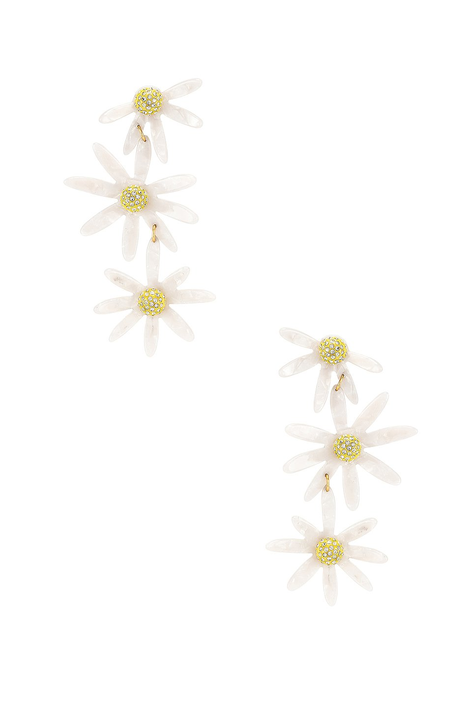 Lucite Daisy Earrings