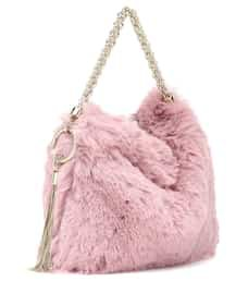 Jimmy Choo - Callie faux fur clutch   Mytheresa