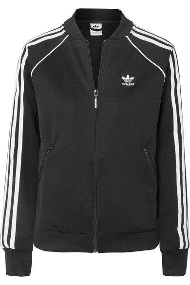 adidas Originals   Striped stretch-jersey track jacket   NET-A-PORTER.COM
