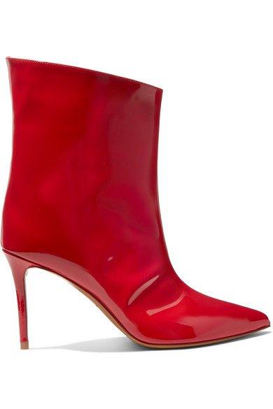 Alexandre Vauthier | Alex patent-leather ankle boots | NET-A-PORTER.COM